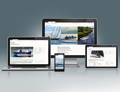Sankt Hubertus operative in boat and yacht design presents itself new online.